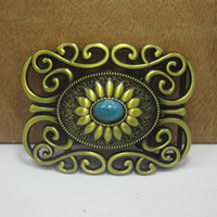 western belt buckles - BuckleHome western belt buckle with antique brass finish FP with continous stock