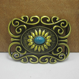 Wholesale BuckleHome western belt buckle with antique brass finish FP with continous stock