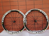 Wholesale Factory sell pair mm COSMIC white carbon fiber bicycle wheels with alloy braking surface c clincher rim with NOVATEC hub