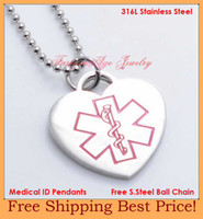 medical id - Lose money promotion l stainless steel medical id pendants medical jewelry fashion medical id necklace P1