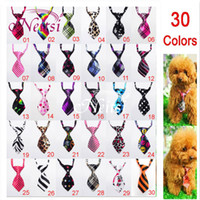Wholesale 2014 Cheap Dog Pet Clothes Cat Tie Mix Color Polyester Silk Pet Dog Tie Necktie Adjustable Tie Handsome Bow Pet Collar Cute Gift