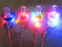 big pacifier - Free Ship cm Funny Led Glow Pacifier Nipple Whistle Necklace Led Light Up Flashing Bubble Rave Party Blinking Key Finder Xmas Gift