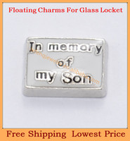 Charm Bracelets FC-384 Trendy Free shipping 2014 new In memory of my Son floating charms for living glass memory glass lockets FC384