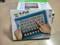 Wholesale Y pad Table Learning Machine English Computer for Kids Children Educational Toys Music Led