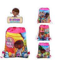 Wholesale New styles DOC mcstuffins drawstring bags children s backpacks school bags kids shopping bags present hjh001