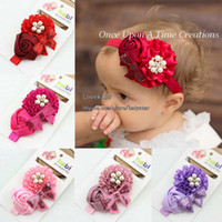 Polyester babies - Baby Headbands Children Hair Accessories Kids Hair Flowers Girls Headbands Baby Hair Accessories Infant Headbands Childrens Accessories