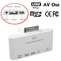 Wholesale 5 in USB and SD Card Reader with AV to TV output Camera Connection Kit for iPad or iPad mini By Eyetouch