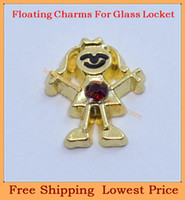 Charm Bracelets FC-343 Trendy Free shipping wholesale Red birthstone gold girl floating charms for living glass floating charm lockets FC343