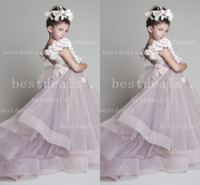 2015 new arrival Tulle Girls' Pageant Dresses with Ruffle an...