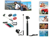 Wholesale DHL free Remote Control Bluetooth Remote Camera Control Self timer Shutter Phone Clip Camera Monopod For iPhone Samsung Android IOS