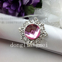 Iron ECO Friendly  100pc 100% High Quality,White Gem Napkin Ring Wedding Bridal Shower #J148
