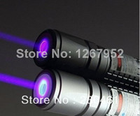 No blue-violet Yes free shipping 405nm 20000mW waterproof focusable violet blue laser pointer flashlight light cigars