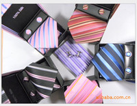 Wholesale 100 silk Men s formal wear tie business tie suit tie cufflinks handkerchief four sets hand made
