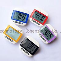 Wholesale Mini Multifunction Pedometer LCD Display Pedometer LCD Run Step Counter Walking Calorie Pedometer Runners Speed Counters DHL