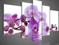 Wholesale handpainted piece white pink beautiful scenery oil paintings on canvas wall art flower picture for home decoration unique gift