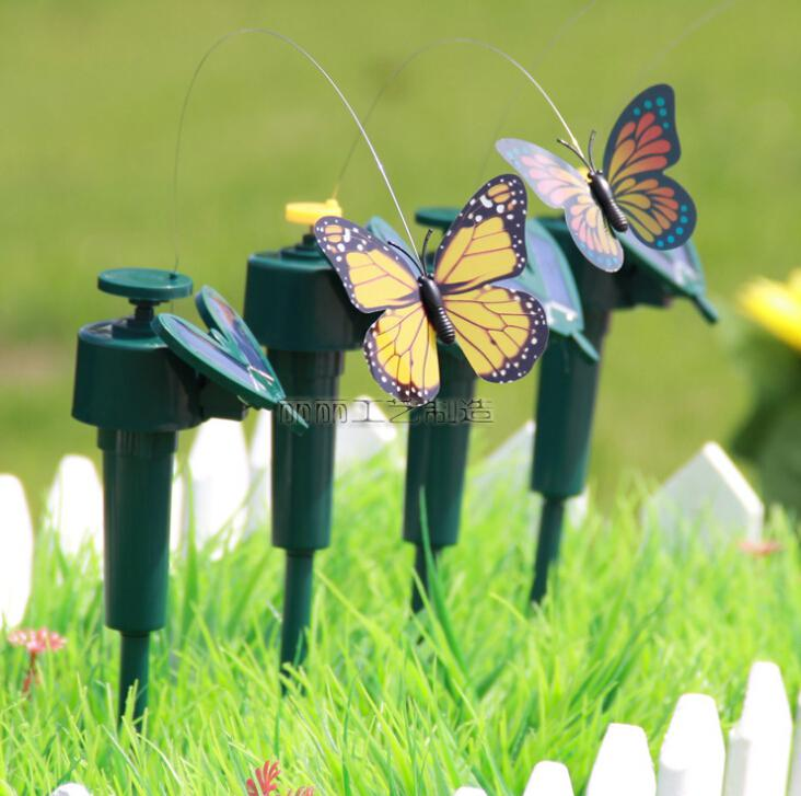 2014 regalo bonito diseño solar mariposa led niños juguetes ...