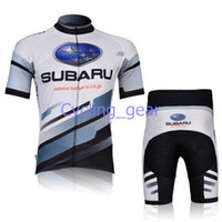 Wholesale Subaru Cycling Jersey Set Short Sleeve Bicycle White Clothing Elasticity Male Cycling Clothes Breathable Lycra Polyester Bicycle Clothes