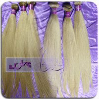 Wholesale Russian Straight Remy Human Hair Extension in Color Blonde Human Hair Single Drawn Double Layers By FedEx or DHL