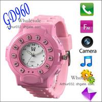 Wholesale Fashion New GD960 Watch Phone Bluetooth Handsfree GPS Tracker Watch Mobile Phone For Kids With GPS Tracker GPRS SOS Wrist C5 s Follow Model