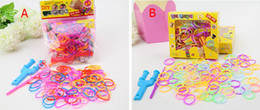 Wholesale 2014 colorful and cheapest Loom Bnads Rubber Wrist Band with S Clips without Retail Box Packing