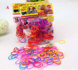Wholesale Vape Colorful Rainbow Loom kit late Rubber band loom Bands bracelet amazing gift for children Mixed colors handmade DIY New amp Hot Fedex