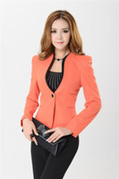 Women Skirt Suit Formal New 2014 Autumn Formal Women Pant Suits for Fashion Ladies Blazers Winter Jackets Business Sets Orange Free Shipping