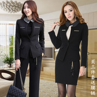 Women Skirt Suit Formal Fashion Plus Size Suits for Women Pant Suits Blazers 2014 Spring Formal Work Wear Set Ladies Office Uniform Free Shipping