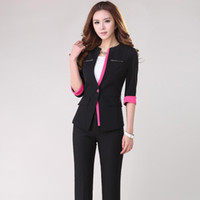 Women Skirt Suit Formal New 2014 Spring Formal Lady Business Suits for Women Suits with Pant and Jacket Sets Elegant Fashion Work Office Uniform Style