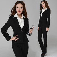 Women Skirt Suit Formal High Quality New 2014 Winter Fashion Suits for Women Business Suits With Pant Elegant Ladies Work Wear Sets Plus Size Black