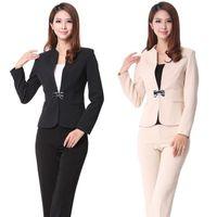 Women Skirt Suit Formal New 2014 Autumn Winter Formal Women Work suits Fashion Ladies Pant Suits for Women Business Sets Elegant Slim