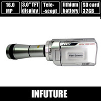 Wholesale 12 Mega pixels telescope digital video camcorder quot TFT display mp3 player gb sd card extra battery DV T