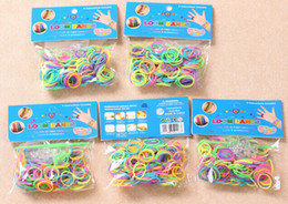 Wholesale Vape Mix Colorful DIY Bracelet Rubber loom Bands with loom Bands S clips hook