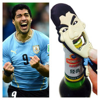 Wholesale New Luis Alberto Suarez beer bottle opener key keychain ring liverpool lfc kitchen tools World Cup With With Vivid Bite football fun gift