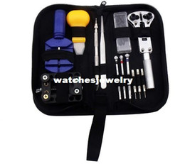 Wholesale Portable PC Watch Repair Tool Kit Case Opener Link Remover Spring Bar Screwdriver Punch home tooling 407