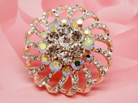 Wholesale 2014 new European and American big size crystal brooch yuan shop selling factory direct selling stall