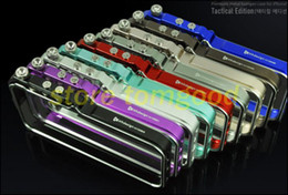 Wholesale Free shippiFor iphone Aluminum metal Tool less CNC Bumper TRIGGER Tactical Edition case for iphone S S S Frame cover with Climbing Rope