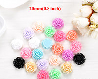 Resin Flowers Round Free Shipping 3000pcs Flatback Resin Flower 0.8inch Embellishments Hair Bow Center Kids Crafts DIY R007