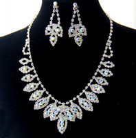 Necklace Settings Jewelry Sets Fashion High Quality Promotion Rhinestone indian costume jewellery Necklace and Earring Wedding Jewelry Set FREE DROP SHIPPING