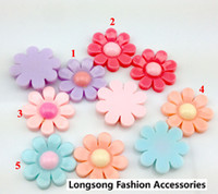 Resin Flowers Round Free Shipping 200pcs Flatback Resin Flower 20mm Embellishments Hair Bow Center Kids Crafts DIY R010