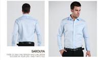 Men Cotton Shirts free Shipping 2014 Brand Spring Business Casual slim fit shirt polo fashion dudalina cotton long-sleeve cotton 40