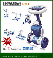 2-4 Years science kit - 6 in Science fun Educational Solar kid DIY Toy Kit solar powered Robots toys Solar gadgets Best new year s or Christmas Gifts