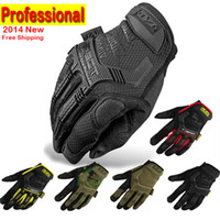 Wholesale 2014 New Mechanix Wear M Pact Military Tactical Army Combat Riding Motorcycle Shooting Bicycle Motorcross Cycling Full Gloves