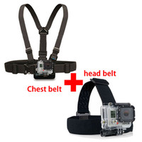 Wholesale Go pro Harness Adjustable Elastic Chest Gopro Belt Head Stap Mount Strap with Plastic Buckle for Gopro hero Hero Black Edition