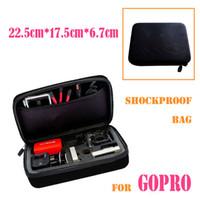Wholesale GoPro Hero3 Accessories Shockproof Portable Bag Outdoor Sports Ride Storage Case for Camera Go pro Hero HD Hero Black Bags