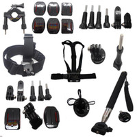 Wholesale Promotion Sale Go pro Accessories Kit Gopro mounts Accessories for Hero gopro accessories Freeshipping