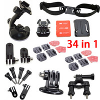 ABS bar accessories kit - 2014 Go Pro Accessories in Mount System Set Kit for GoPro Hero4 hero3 hero Roll Bar Mount Suction Cup Mount Tripod Adapter