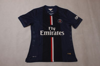 Wholesale Wholesales New Paris Saint Germain Blank Home Thai Quality Soccer Jersey For Men Football Club Jerseys Customized soccer jerseys