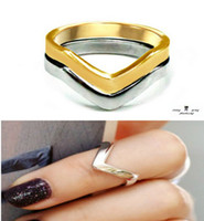 Cheap Band Rings HOLLYWOOD Star Ring Best South American Women's Shiny V Shaped Ring