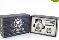 Single as  the  picture  Hammer Mod E Pipe Mod Mechanical Stainless Steel E-pipe Electronical Cigarette Kits pipes free ship
