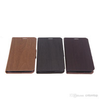 Wholesale Wooden Leather Wallet Flip Stand Case Cover for SAMSUNG Galaxy S5 i9600 PA1615